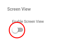 Screen View Switch